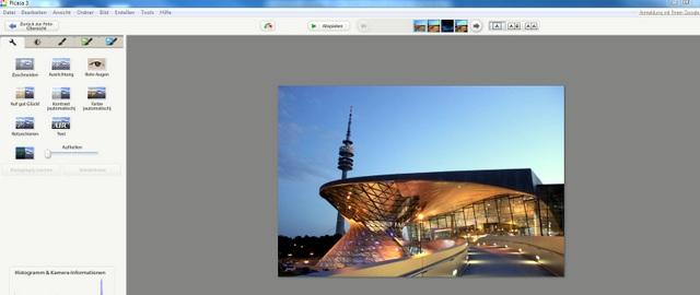 Picasa Bildbearbeitungsprogramm Übersicht