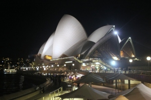 Opera House bei Nacht