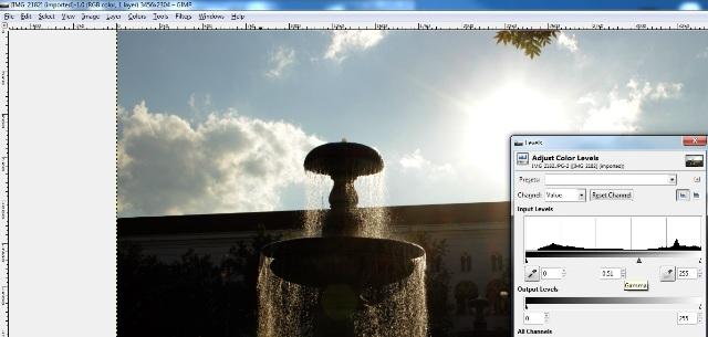 Bildvorlage bei GIMP2 mit Anpassung