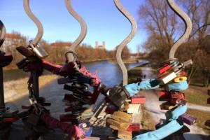 Liebesschloss auf der Wittelsbacher Brücke