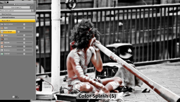 Magix Fotomanager für Color Splash Effekte