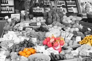 Obststand am Viktualienmarkt