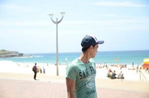 Cousin am Strand