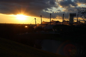 Olmpiapark Sonnenuntergang