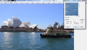 Gaußscher Weichzeichner bei GIMP mit Tilt-Shift Funktion