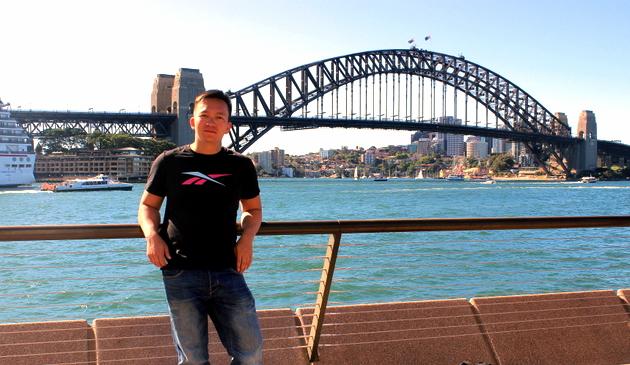 Shooting vor der Harbour Bridge