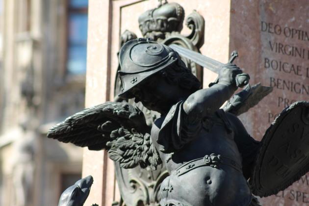 Engel an der Mariensäule