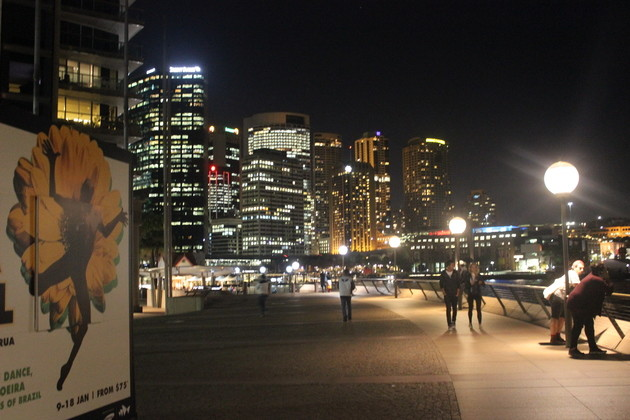 Sydney im Dunkeln