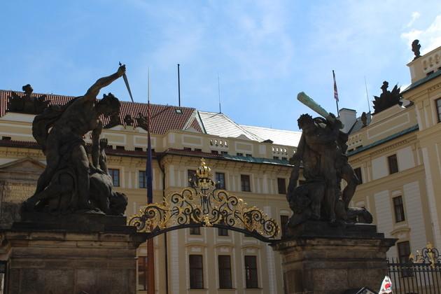 Ehrenhof vor der Prager Burg