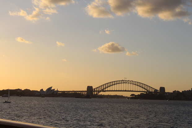 Sonnenuntergang Sydney mit der Harbour Bridge