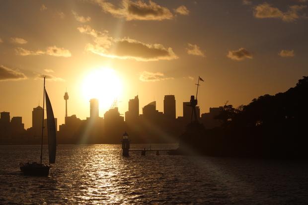 Sonnenuntergang vor Sydney