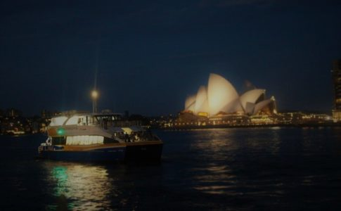 in der Nacht in Sydney