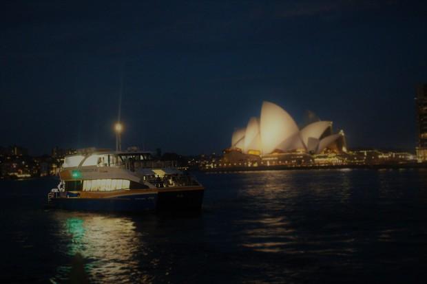 in der Nacht in Sydney