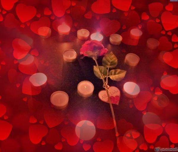 Liebesbotschaft photoeffekte.com