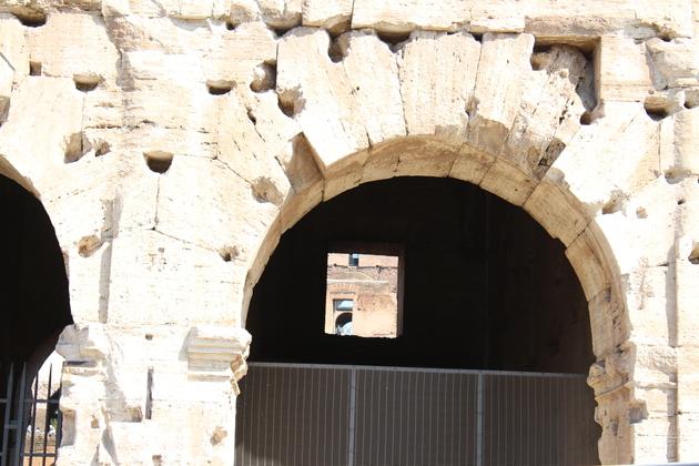 Kolosseum in Rom Einblick